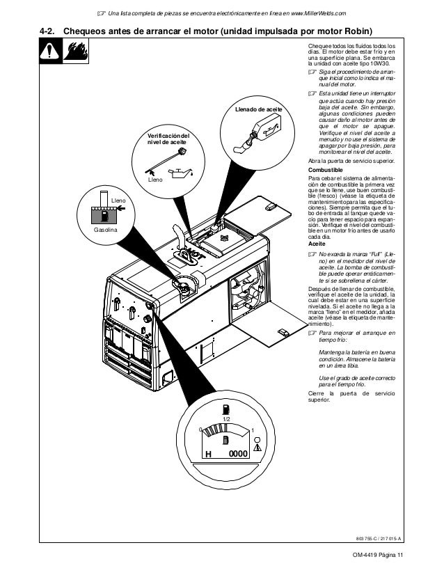 Bobcat250 lpg manual del operador