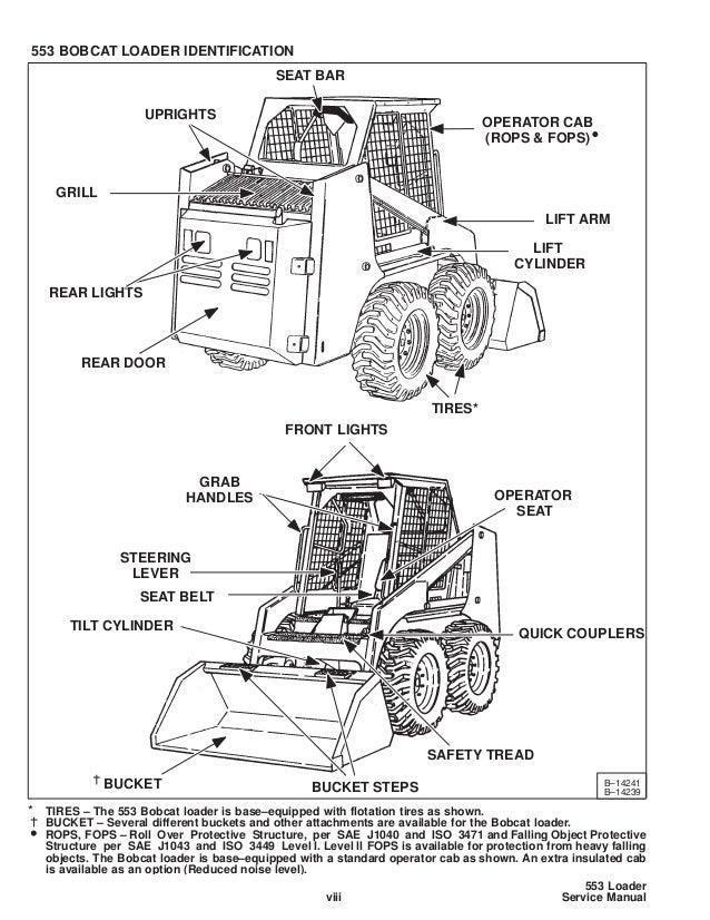 Bobcat 553 skid steer loader service repair manual europe