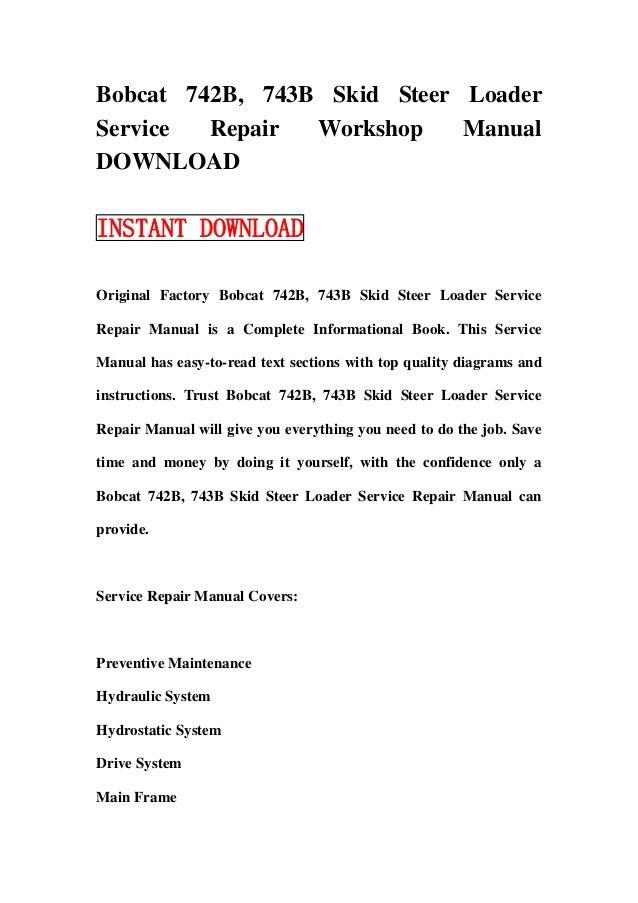 bobcat 743 manual