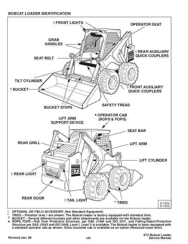Bobcat 873 skid steer loader service repair manual sn