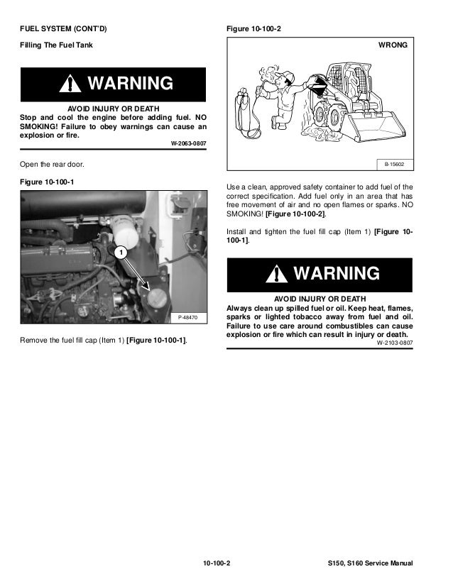 Bobcat s160 skid steer loader service repair manual sn