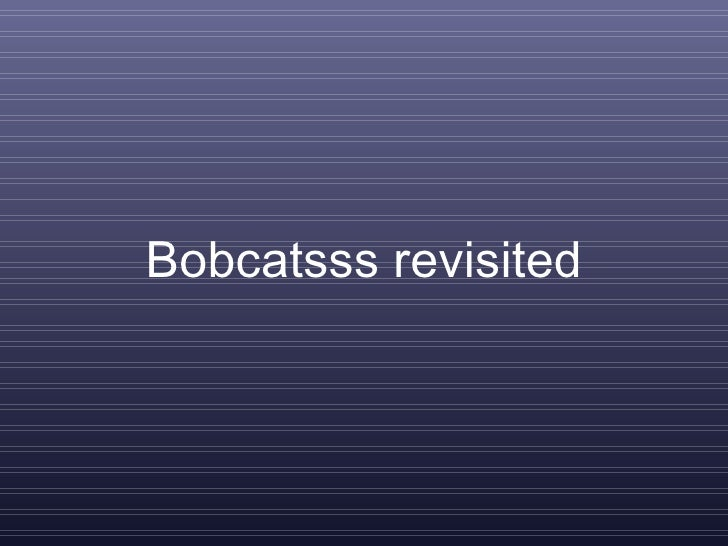 Bobcatsss revisited