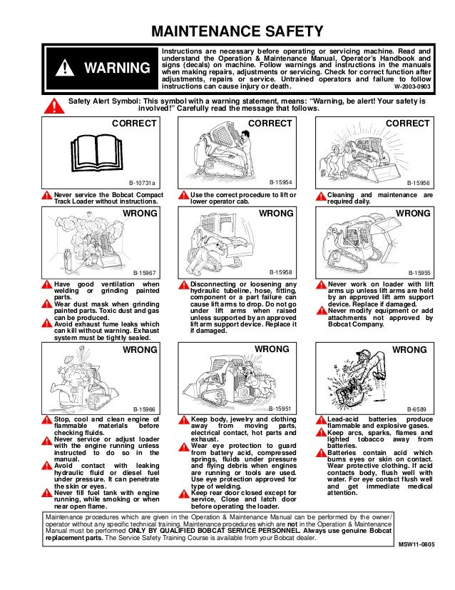 Bobcat T Compact Track Loader Service Repair Manual Snsn Amp Above Sn Amp Above