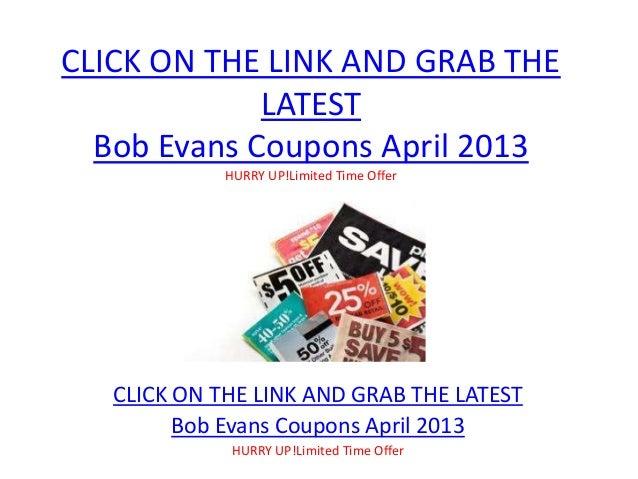 photograph about Bob Evans Coupons Printable named Bob Evans Discount codes April 2013 Printable Bob Evans Discount codes