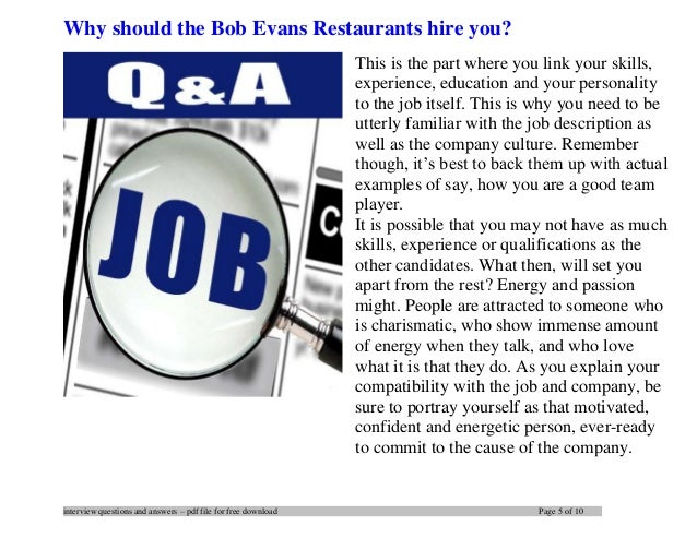 5 interview questions