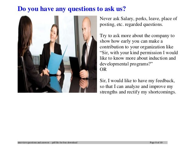 8 interview questions