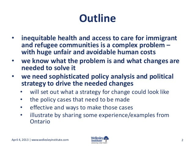 Health Equity for Immigrants and Refugees: Driving Policy Action Slide 2