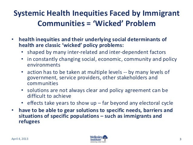 Health Equity for Immigrants and Refugees: Driving Policy Action Slide 3