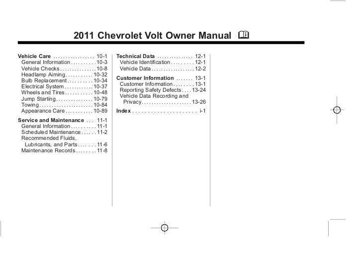 bob hook chevrolet 2011 chevy volt owners manual rh slideshare net chevy volt owners manual 2015 chevy volt owners manual 2013