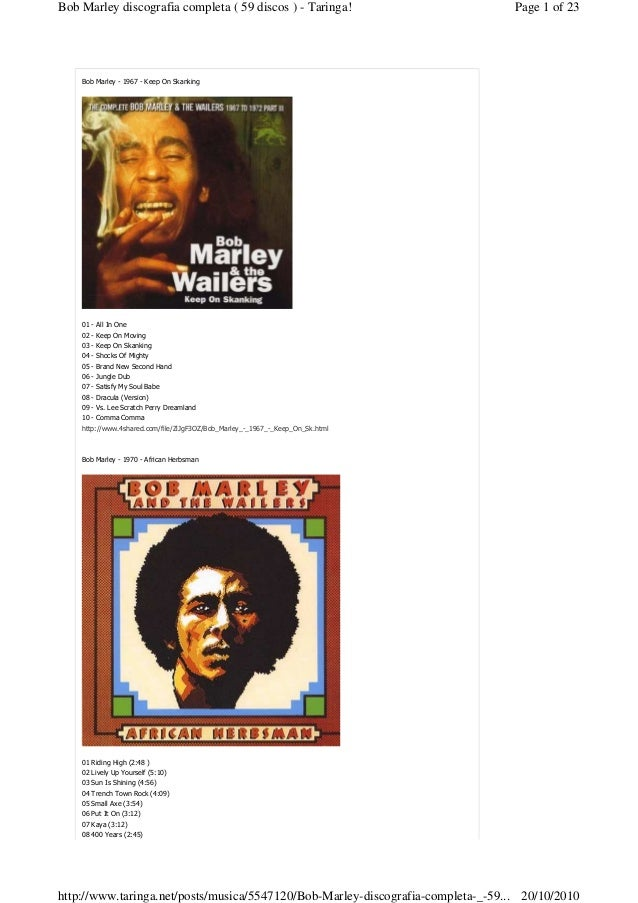 Bob Marley - 1967 - Keep On Skanking 01 - All In One 02 - Keep On Moving 03 - Keep On Skanking 04 - Shocks Of Mighty 05 - ...