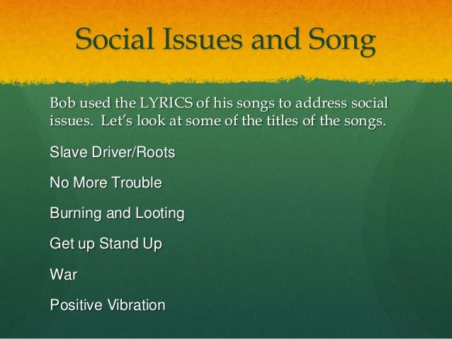 songs that deals with social issues