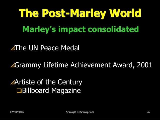 what did bob marley do for human rights