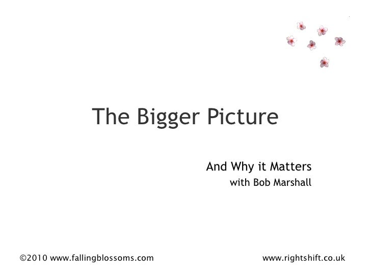 The Bigger Picture And Why it Matters with Bob Marshall