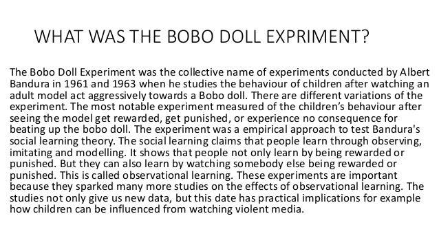 Bobo doll experiment | psychology | Britannica.com