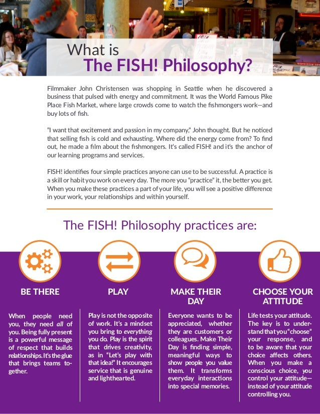Bob phillips 39 fish philosophy customer service information for The fish philosophy