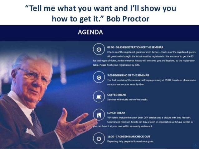 Bob Proctor Thinking Into Results Seminar In Belgrade