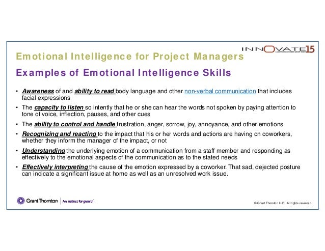 Pm 201 Emotional Intelligence For Project Managers