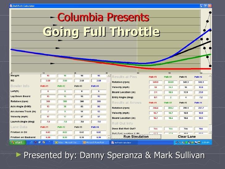 Columbia Presents Going Full Throttle   <ul><li>Presented by: Danny Speranza & Mark Sullivan </li></ul>
