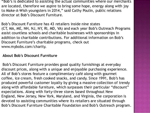 Bobs Furniture And Make A Wish Partner To Help Kids