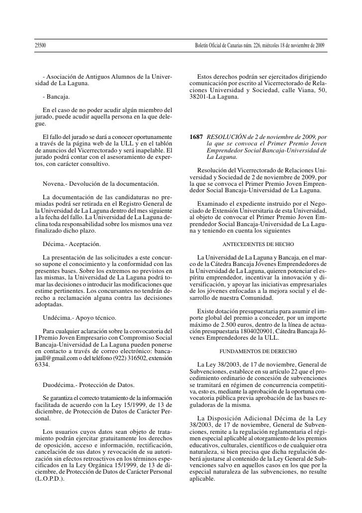25500                                                         Boletín Oficial de Canarias núm. 226, miércoles 18 de noviem...