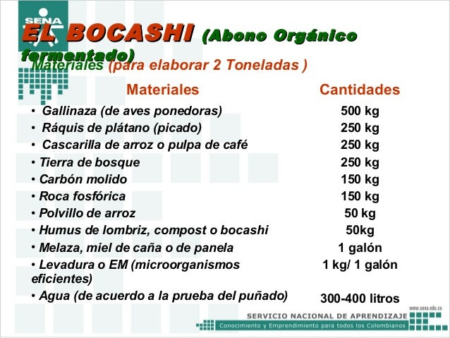 Bocashi y te - Hacer abono organico ...