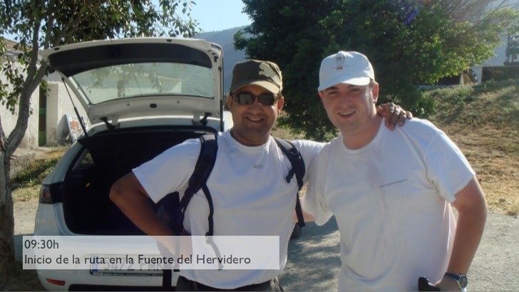 09:30h Inicio de la ruta en la Fuente del Hervidero