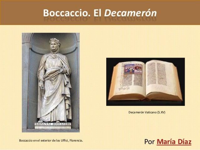 Boccaccio. El Decamerón                                                     Decamerón Vaticano (S.XV)Boccaccio en el exter...