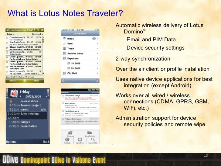 Ddive11 Ibm Lotus Notes Traveler