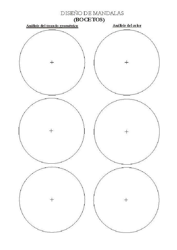 DISEÑO DE YANTRAS                         (BOCETOS)Análisis del trazado geométrico    Análisis del color