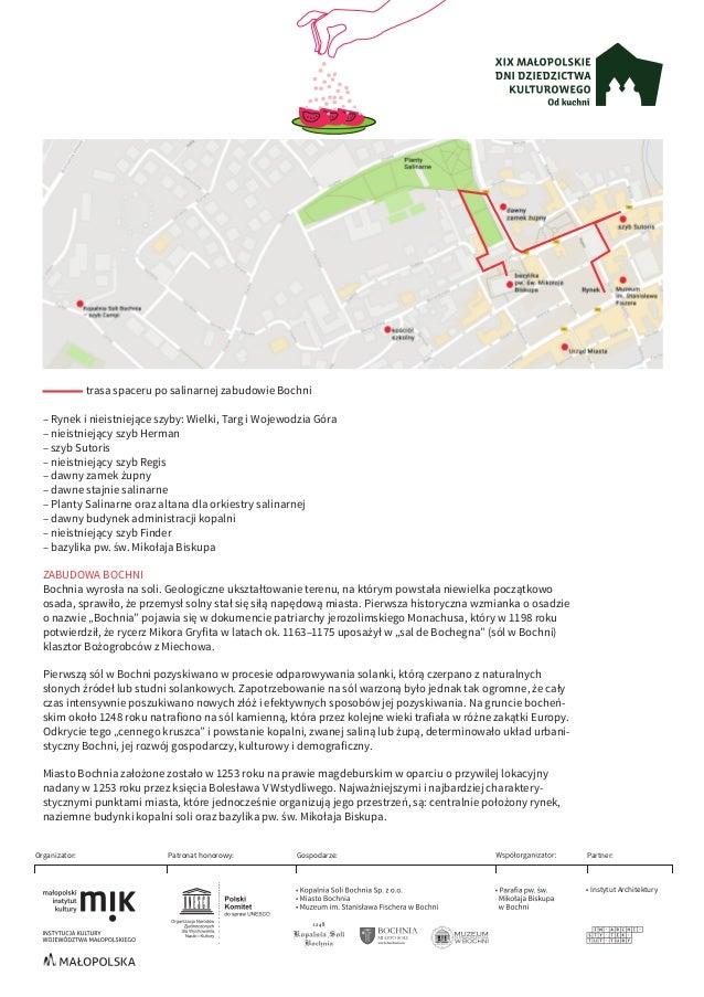 trasa spaceru po salinarnej zabudowie Bochni – Rynek i nieistniejące szyby: Wielki, Targ i Wojewodzia Góra – nieistniejący...