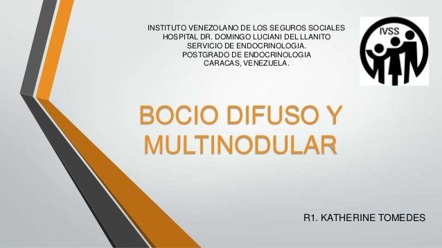 INSTITUTO VENEZOLANO DE LOS SEGUROS SOCIALESHOSPITAL DR. DOMINGO LUCIANI DEL LLANITOSERVICIO DE ENDOCRINOLOGIA.POSTGRADO D...