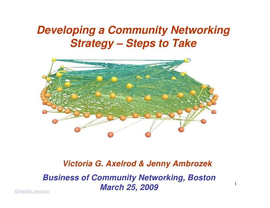 Developing a Community Networking            Strategy – Steps to Take                 Victoria G. Axelrod & Jenny Ambrozek...