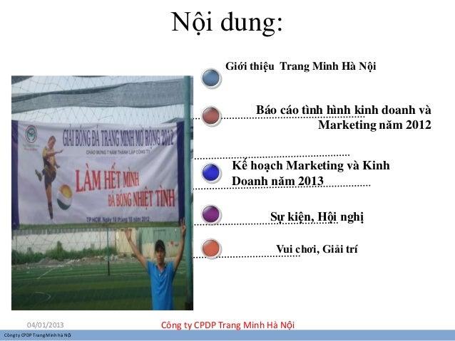 Nội dung:                                               Giới thiệu Trang Minh Hà Nội                                      ...