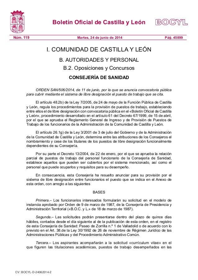 Boletín Oficial de Castilla y León Núm. 119 Pág. 45899Martes, 24 de junio de 2014 I. COMUNIDAD DE CASTILLA Y LEÓN B. AUTOR...