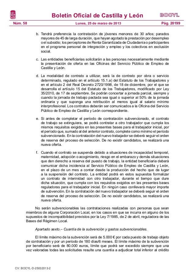 Bases reguladoras para la concesi n de subvenciones a municipios de c - Oficinas de trabajo temporal ...