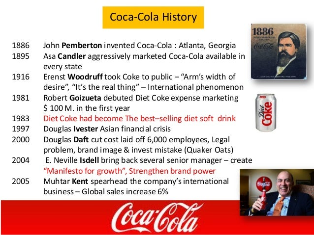 the coca cola company doug ivester s failure Early in stahl's career, his mentor doug ivester tasked him and to put the experience to good use to manage coca-cola's outrage ran high and the company.