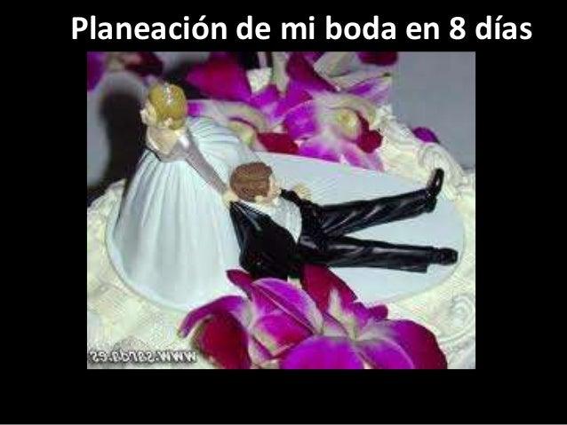 Planeación de mi boda en 8 días