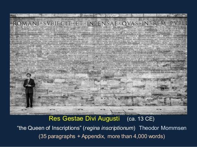 Roman epigraphy an introduction by john bodel brown university - Res gestae divi augusti pdf ...