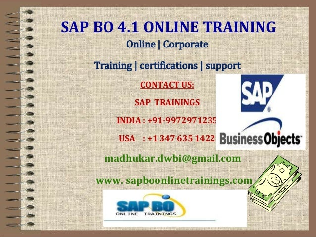 SAP BO Tutorial