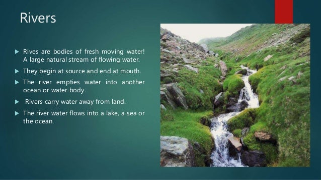Natural Bodies Of Fresh Water That Are Flowing
