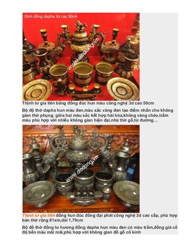 Bộ đồ thờ cúng bằng đồng dapha hun màu đúc 3d - bảo hành 15 năm Slide 2