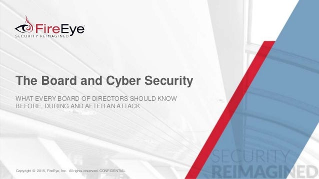 The Board and Cyber Security