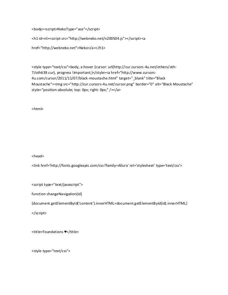 """<body><script>NekoType=""""ace""""</script><h1 id=nl><script src=""""http://webneko.net/n200504.js""""></script><ahref=""""http://webneko..."""