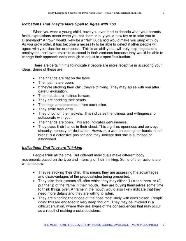 secrets of body language book pdf