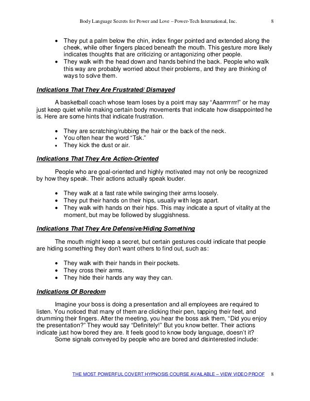 flirting moves that work body language free pdf template download