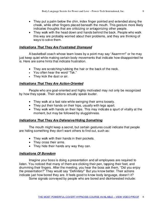 flirting moves that work body language test printable free template