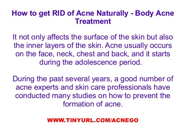 how to get rid of severe body acne