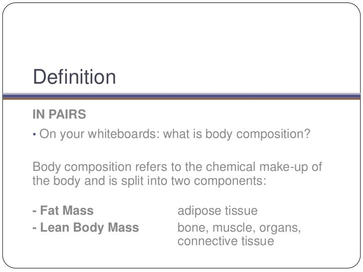 body composition definition