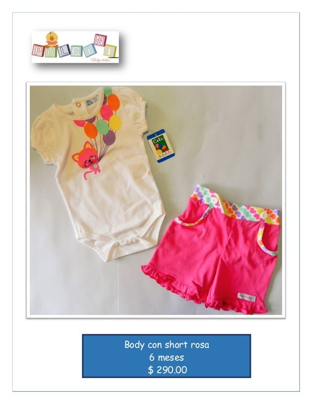 3 pzas Algodón Body con short rosa 6 meses $ 290.00