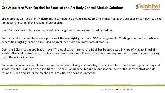 What is Body Control Module | BCM Unit in Automotive ECU